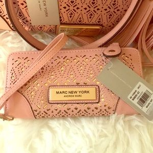 Brand: Andrew Marc: Bag and Wristlet 2 pcs